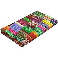 colors of rajasthan COR's Hippie Bedspreads Kantha Quilt, Kantha Blanket Bedspread, Patch Kantha Throw, Twin Kantha, Kantha Rallies Indian Sari Quilt
