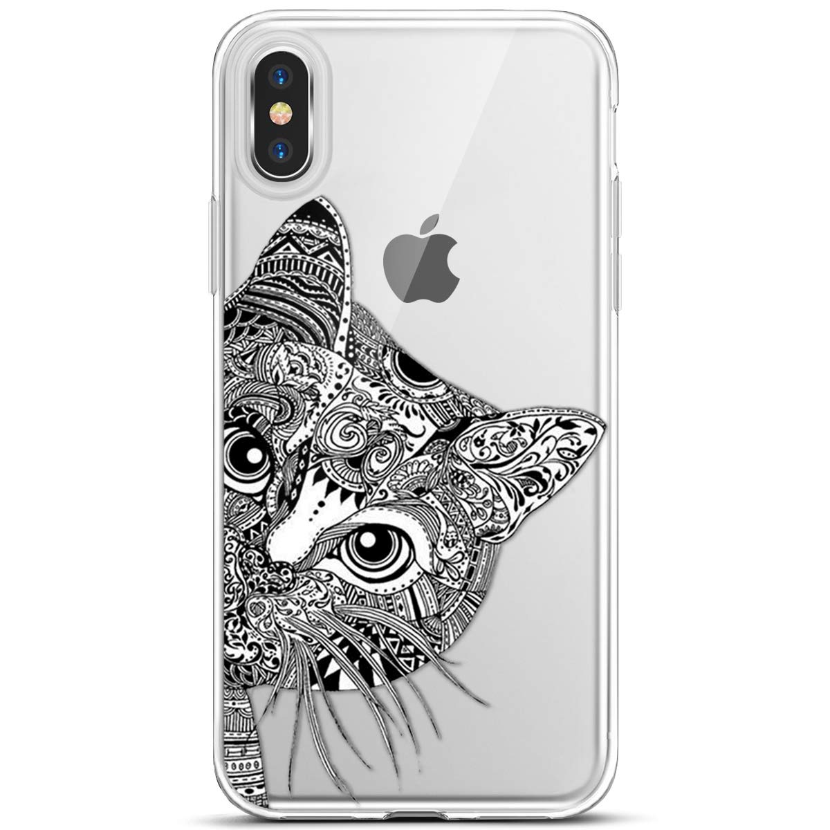 Surakey iPhone XR Case, Ultra Slim Thin Soft Clear Transparent TPU Silicone Gel Protector Case Cover Bumper Shell Cartoon Animal Pattern for iPhone XR, Elephant SUR006011
