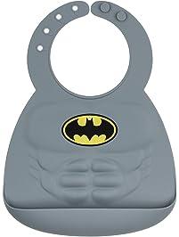 Bumkins DC Comics Silicone Muscle Bib, Batman (6-24 Months)