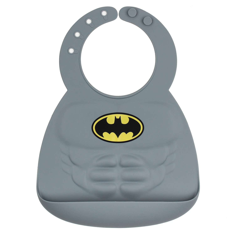 Bumkins DC Comics Silicone Muscle Bib, Batman (6-24 Months) SMB-WBBM