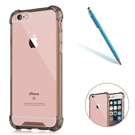 CLTPY iPhone 6s Funda Hibrido, Transparent iPhone 6 ...
