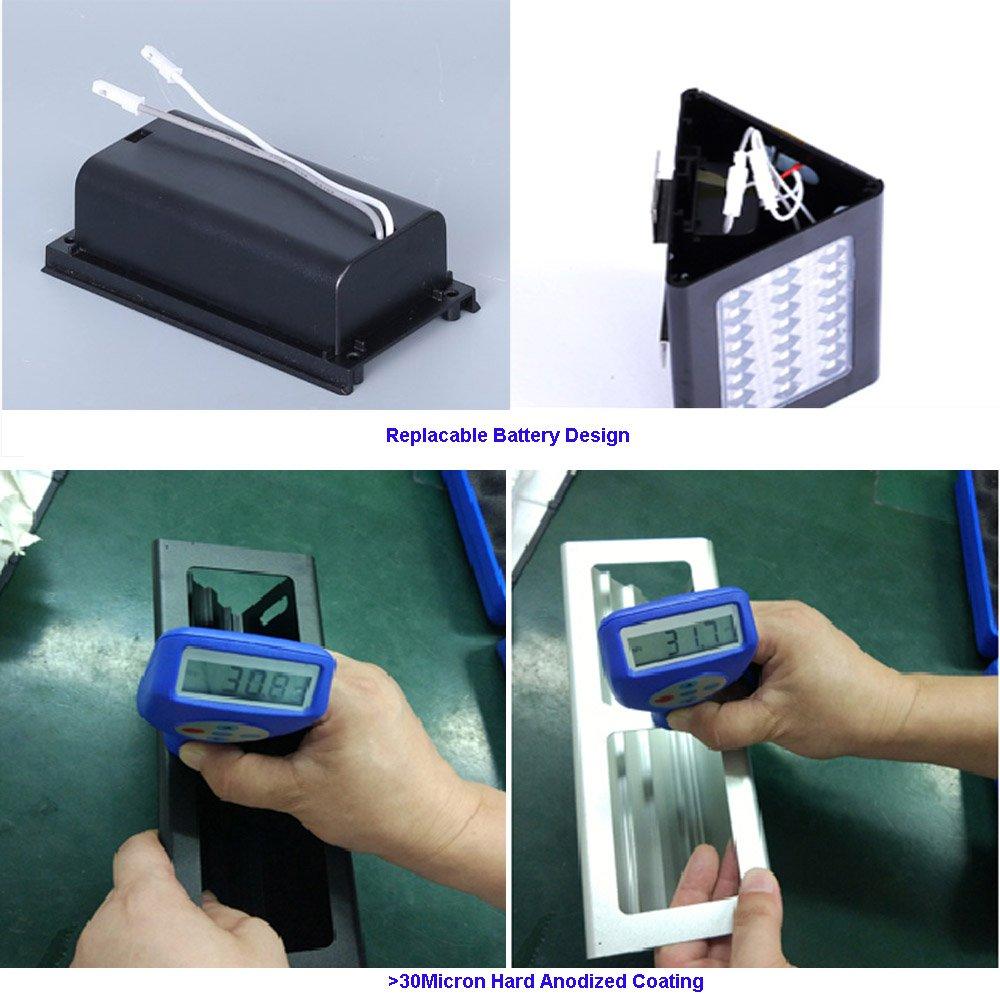 Giddah Luz de solar con Sensor de movimiento de 900lm 48LED para el patio, jardín y jardín, la puerta de atrás, de paso, esgrima, cubiertas, el patio, ...