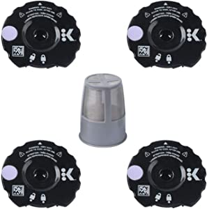 Podoy K300 Reusable Coffee Filter Cover Lid with Inner Filter for Compatible with Keurig My K Cup 2.0 K300 K350 K375 K400 K450 K475