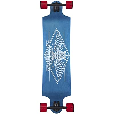 Landyachtz Switch 40 Longboard Complete Drop Down Blue Owl New 2020 : Sports & Outdoors