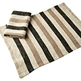 Linen Coffee Table Placemat, Set of 2 — Washed Soft and Durable Linen Cloth — Eco-Friendly 100% Pure European Linen Fabric — 18'' x 13'' (46 x 33 cm)