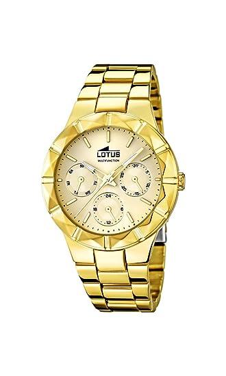 Lotus 15920/2 - Reloj de Pulsera Mujer, Acero Inoxidable, Color Dorado: Amazon.es: Relojes