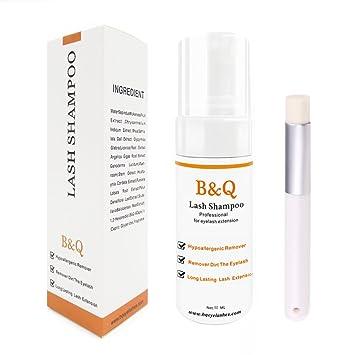 2406bac0b66 Amazon.com : Eyelash Extension Cleanser Foam For Eyelash Extension Wash  Eyelash Makeup Remover Lash Shampoo Set Lashes Water Foaming Daily Use :  Beauty