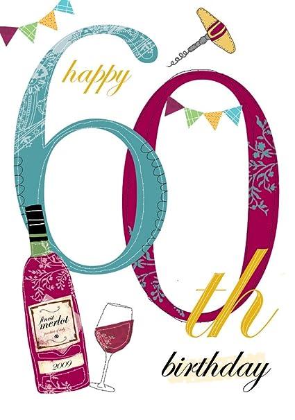 Edad 60 varón Tarjeta de cumpleaños: Amazon.es: Oficina y ...