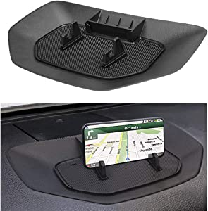 Dash Center Console Table Organizer Tray for Toyota Tundra 2014-2019 2020 Truck Accessories, Upgrade Stable Dashboard Phone Holder Cradle Instrument Storage Box for Phone GPS Navigation Anti-Slip