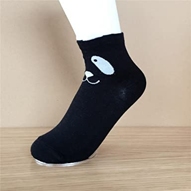 Seazhio Calcetines 3D Printed Cartoon Panda Socks Ankle-High Spring Autumn Socks