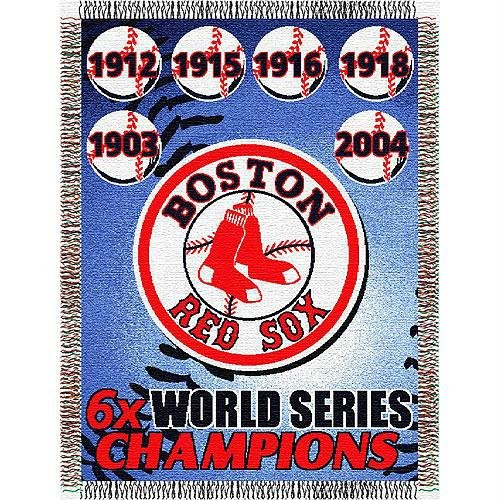 MLB Boston Red Sox Commemorative Woven Tapestry Throw, 48