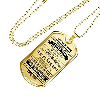 Awesome Gifts Mommy Love You Mother Daughter Dog Tags Chain
