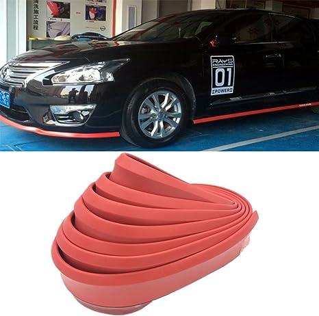 Car Universal Lip body Skirt//Front Bumper Side Protector Spoiler Splitter 2.5M