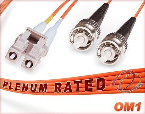 PLENUM 200M ST-ST OS1 Duplex Singlemode 9//125 Fiber Optic Cable