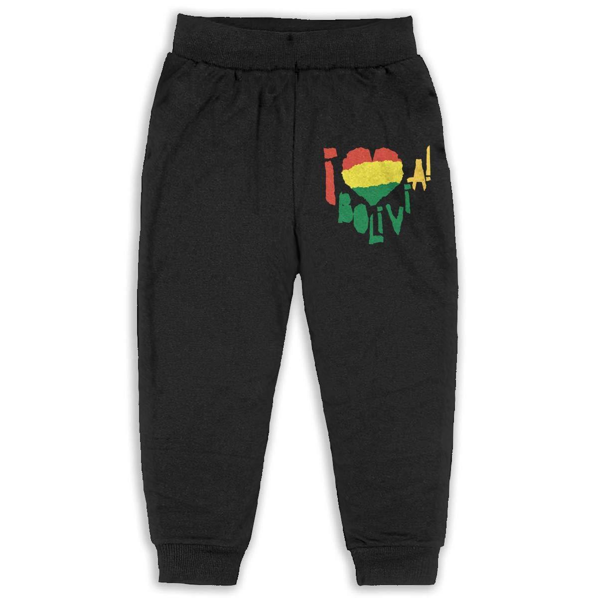 Kids /& Toddler Pants Soft Cozy Baby Sweatpants Love Bolivia Fleece Pants Jogger Pants