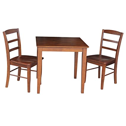 735548b3bb5c Image Unavailable. Image not available for. Color  International Concepts Dining  Table with 2-Ladder Back Chairs ...