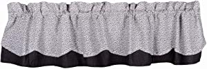 Home Collection by Raghu Farmhouse Notions White-Black Fairfield Valance, Multi- Color