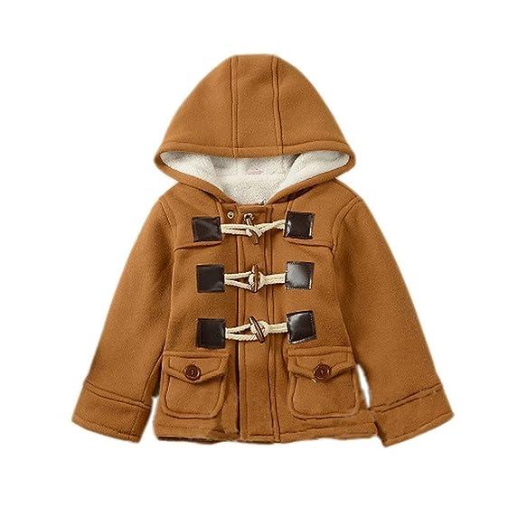 Amazon.com: GetUBacK Baby Boy's Hooded Fleece Coat Winter Outwear ...