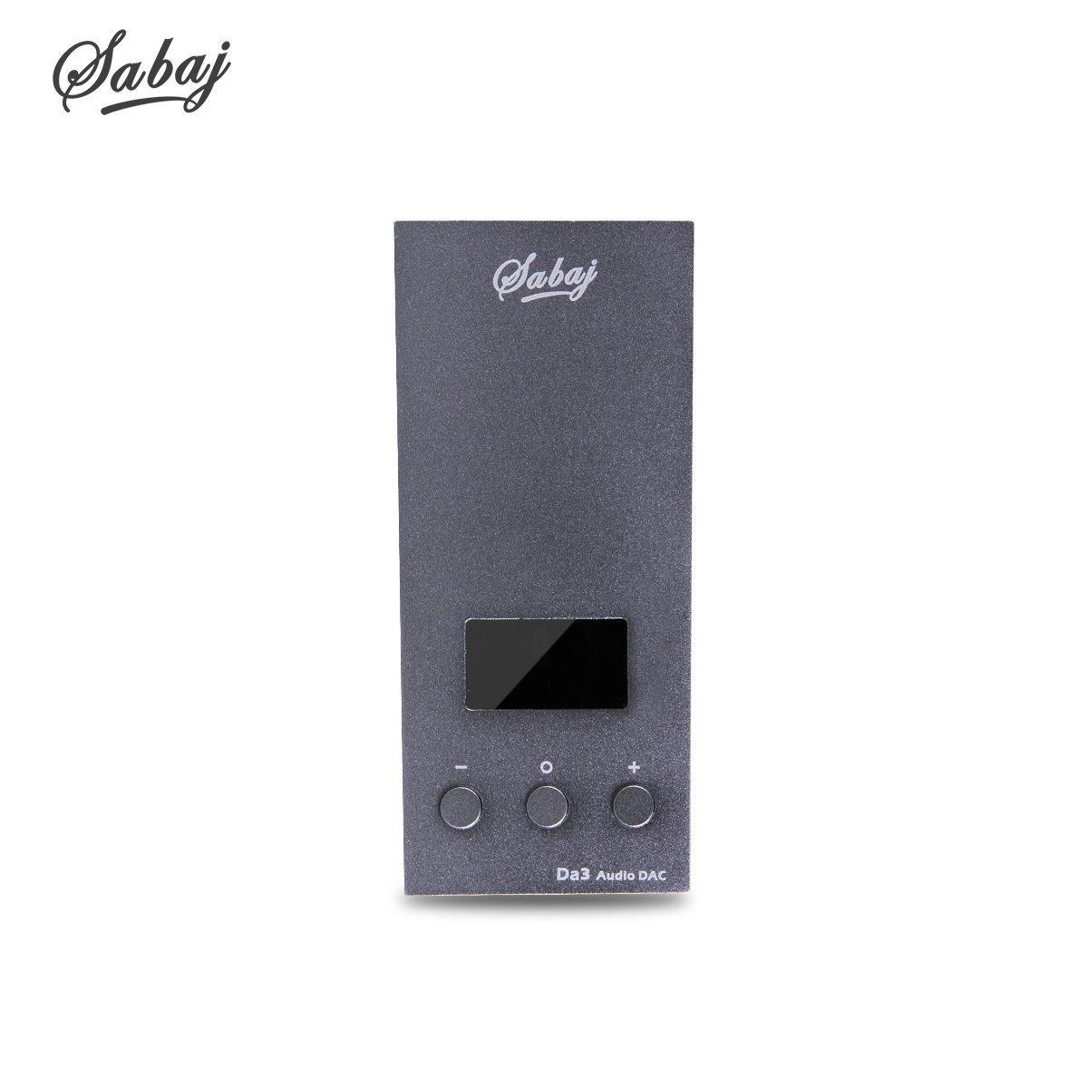 Sabaj Da3 Headphone Amplifier Mini Portable High Resolution Amplifiers Hi-Res USB Amp&DAC DAC Native DSD512 32bit/768kHz Dual DAC (Gray) SHENZHEN DAHAO Technology Co. ltd DA3-Grey