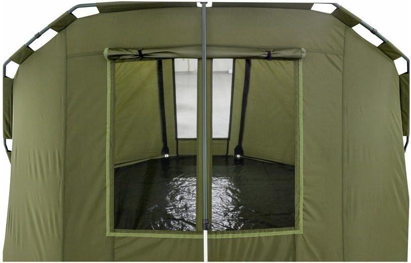 Lucx/® Caracal Angelzelt 1 bis 2 Mann Bivvy 2 Personen Karpfenzelt Carp Dome Anglerzelt 295x290x165cm 10.000mm Wassers/äule Campingzelt