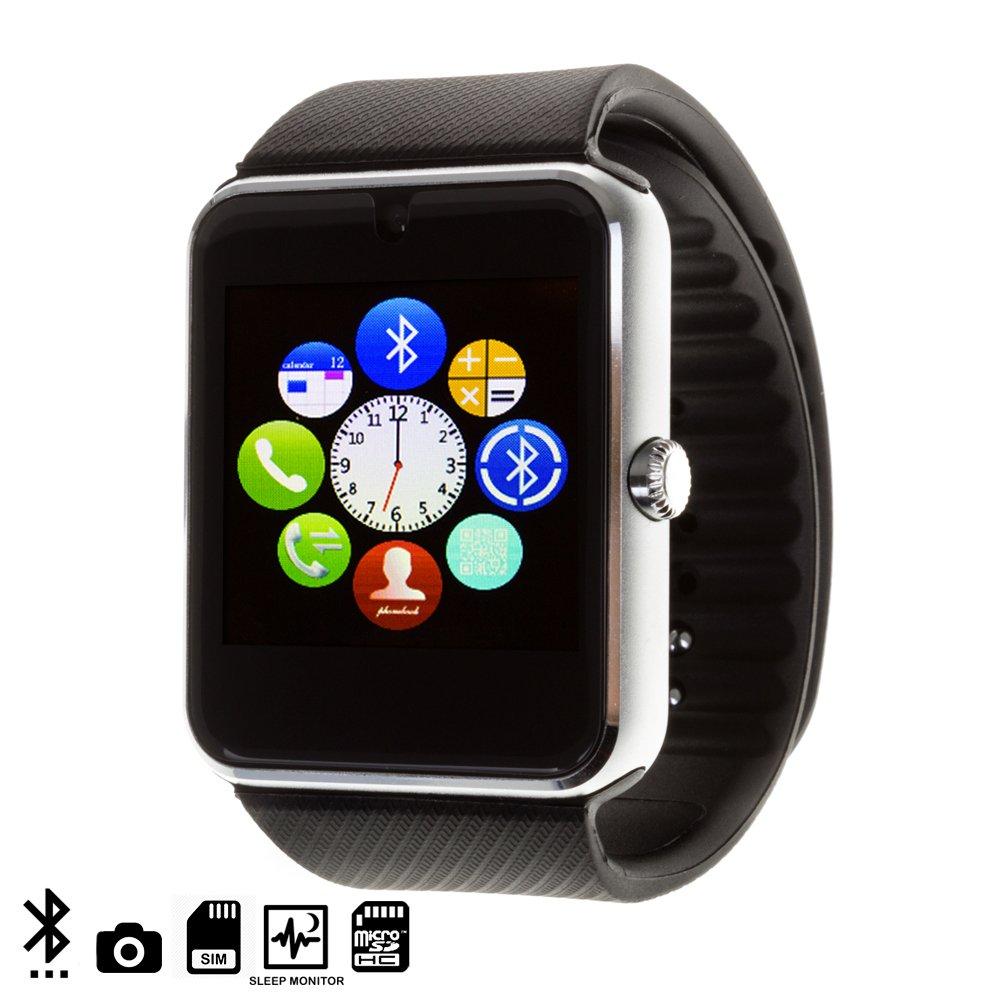 DAM TEKKIWEAR. GT08 Bluetooth Watch con SIM, cámara y Slot Micro ...