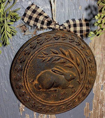 Blackened Beeswax American Folk Art Rabbit Bunny Ornament Cinnamon Scented with Saigon Cinnamon Rub