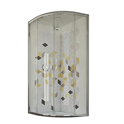 Box Doccia Semicircolare 70x90.Box Doccia Semicircolare 70x90 Cm H198 Trasparente Mod Evolution