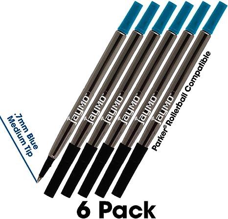 New Black Ink Parker Compatible 0.5mm Ballpoint Pen Refills Medium Nib