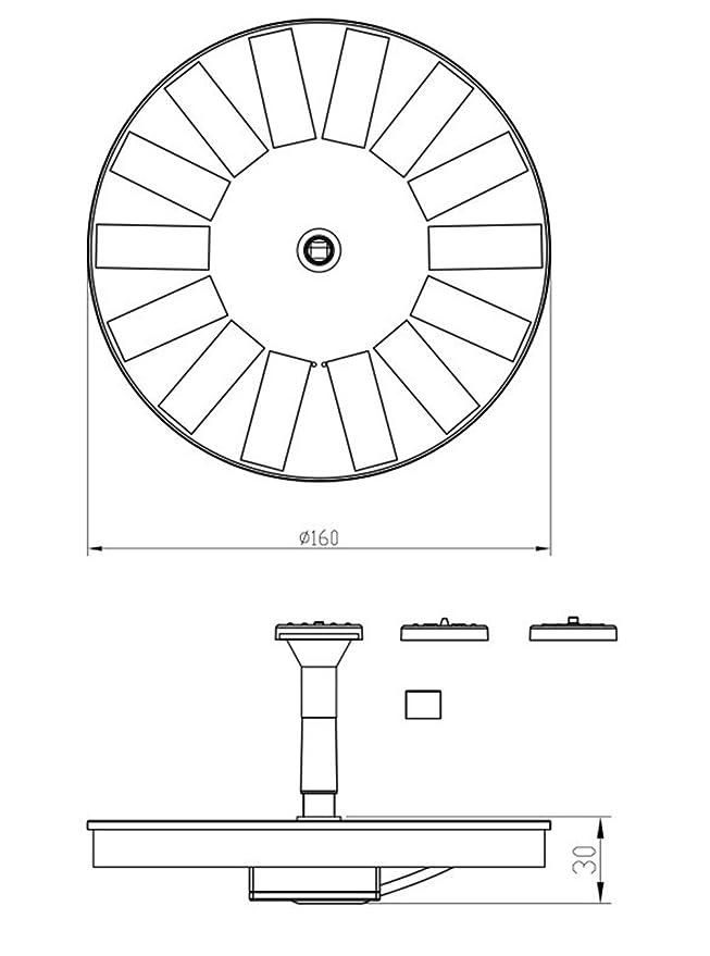 Amazon Com Solar Power Fountain Kit 1 4w Upgraded Submersible