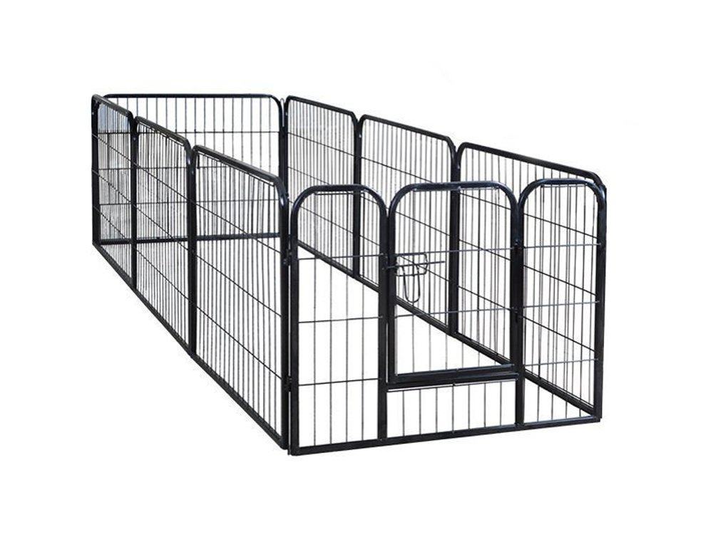 PetDanze Dog Pen Metal Fence Gate Portable Outdoor   Heavy Duty Outside Pet Large Playpen Exercise RV Play Yard   Indoor Puppy Kennel Cage Crate Enclosures   24'' Height 8 Panel by PetDanze (Image #3)
