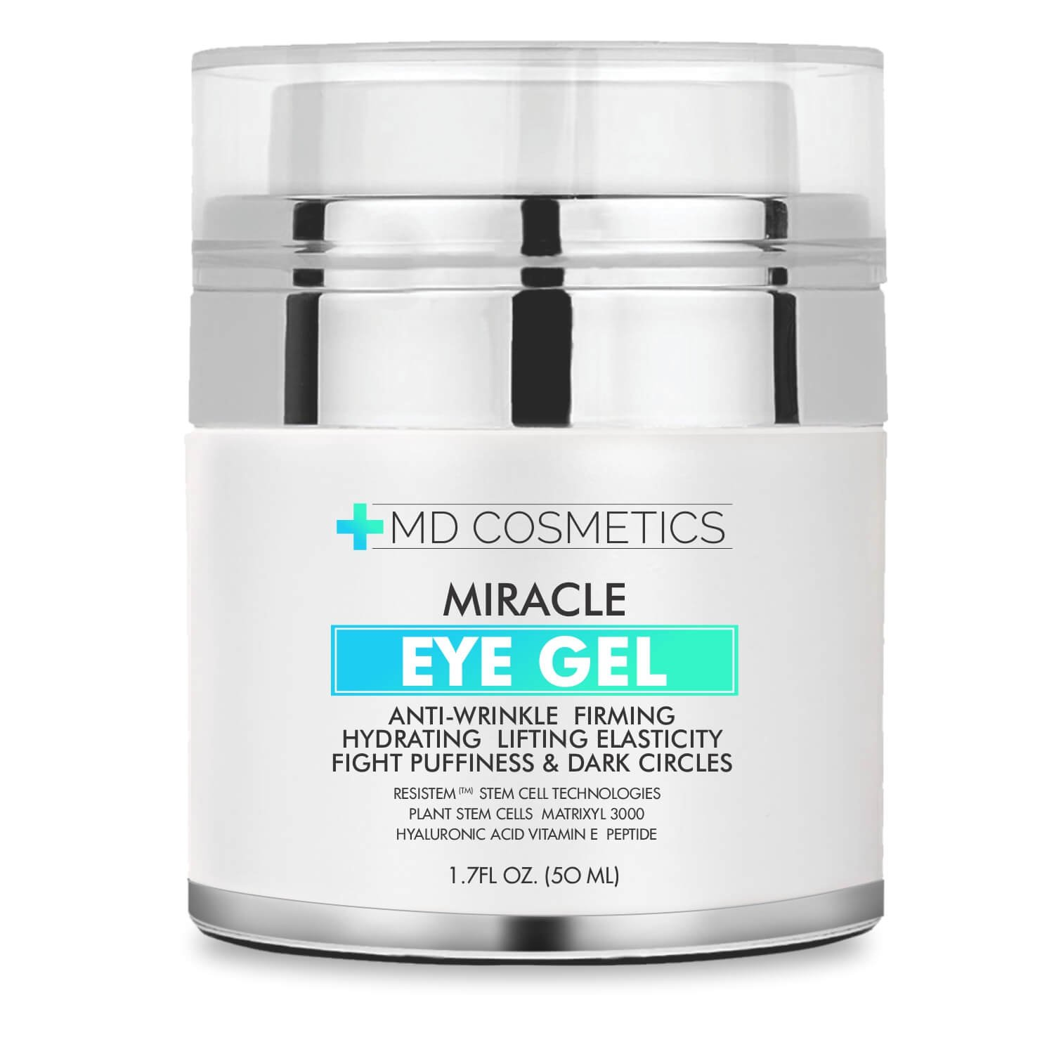 NEW FORMULA FOR 2018! MD Cosmetics Eye Gel for Dark Circles, Puffiness, Wrinkles and Bags. - The Most Effective Anti-Aging Eye Gel for Under and Around Eyes - 1.7 fl oz