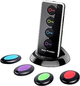 Hyrrt Key Finder, Wireless RF Item Locator, 1 Transmitter with 4 Receivers, Key RF Locator, Pet Tracker Wallet Tracker