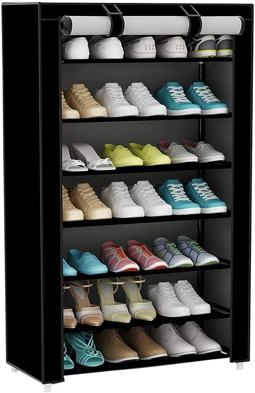 UDEAR Armario para Zapatos de Tela Shoes Rack Zapato del gabinete Zapatero estanter/ía Negro