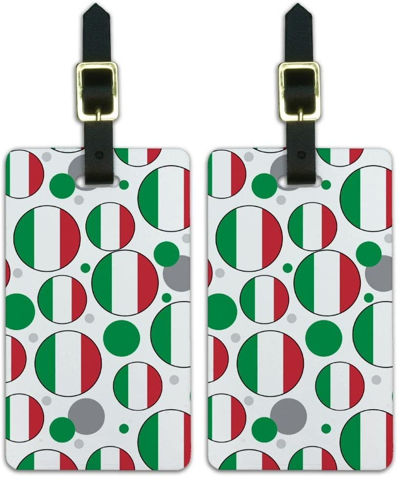 Graphics /& More C-i-Italy National Country Flag White