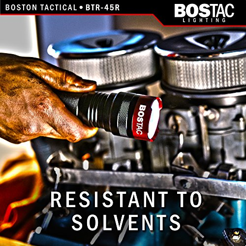 BOSTAC™ BTR-45R Rechargeable Tactical Flashlight - Hand Held Professional Flashlight by Boston Tactical with High Intensity CREE XML2 U2 USA LED Bulb, 1,100 Lumens, Sealed Against Solvents by Bostac (Image #4)