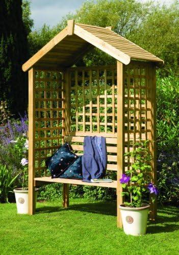 Diseño de rombos de madera Garden Arbour - 2 plazas banco de ...