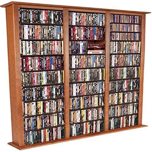 Venture Horizon Media Storage Tower-Tall Triple Cherry