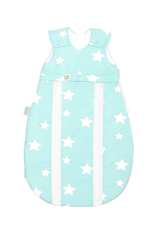 odenwälder Jersey de saco de dormir prima climática White Stars Frozen Menta frozen minze Talla:90: Amazon.es: Bebé