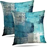 Trasign Turquoise Pillow Cover,Teal Pillow Cover,Contemporary Pillow Cover Decorative Throw Pillows Cushion Cover for…
