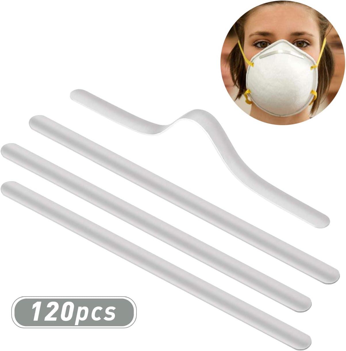 Kesote 120 Tiras de Puente de Nariz Clip Aluminio Ajustable para DIY Protección Nasal y Bucal (90 x 5mm)