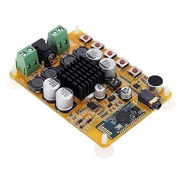 WINGONEER TDA7492 inalámbrica Bluetooth 4.0 2 * 50W 2 canales receptor de audio estéreo Junta módulo amplificador digital de potencia: Amazon.es: ...