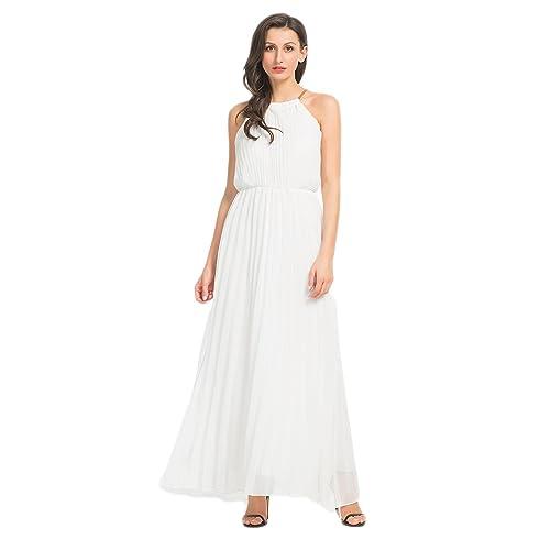 White Maxi Halter Dress