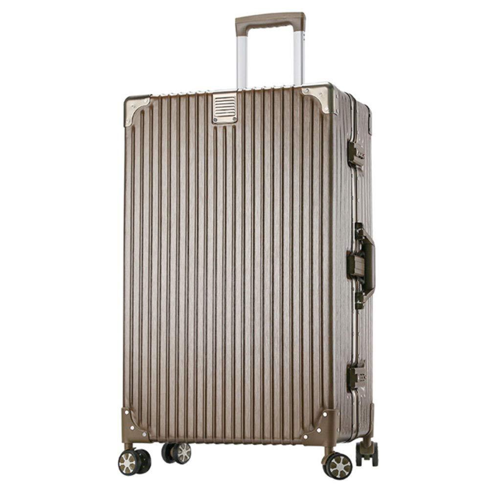 トロリーケースレトロ直角アルミフレーム男性と女性のためのファッショントレンドスーツケーススーツケース (Color : Titanium gold, Size : 29inches)   B07QYR74BL