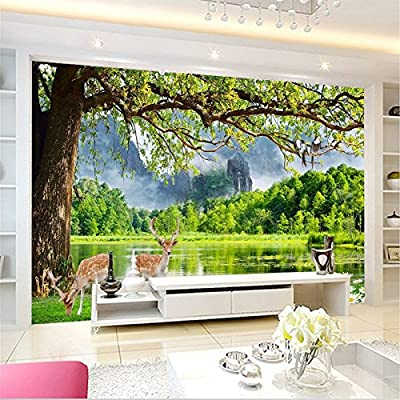 XLi-You 3D Modern Minimalist Landscape View Large Murals Wallpaper Walls