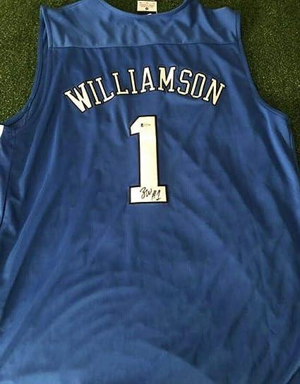the best attitude 89ebb 437fd Zion Williamson Autographed Signed Memorabilia Duke Blue ...