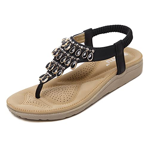 e161cf077 DolphinGirl Bohemian Summer Vacation Beach Flat Thong Sandals