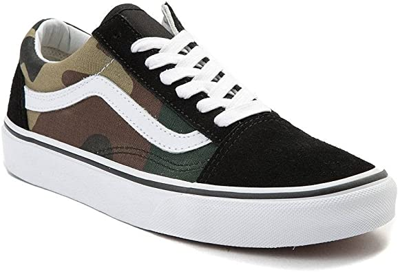 Vans Old Skool Skate Shoe (10.5 Women 9 Men M US, (Woodland Camo) BlackWoodland 7203)