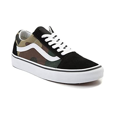 green platform vans old skool