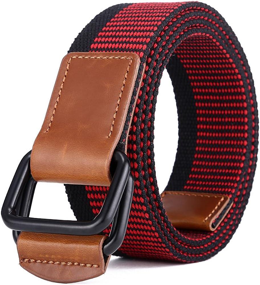 Cinturón de Lona Ajustable Para Hombre Y Mujer con hebilla de la aleación de MIJIU Cinturones Ocasional