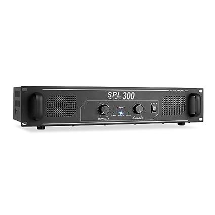 Skytec SPL 300 Amplificador de audio DJ-PA 300W LED